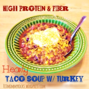 High Protein & Fiber -- Hearty Taco Soup w/ Turkey