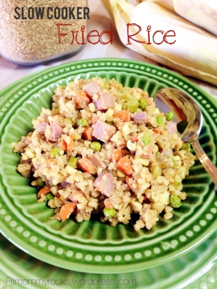 Slow Cooker Fried Rice-- Yummy Healthy Version