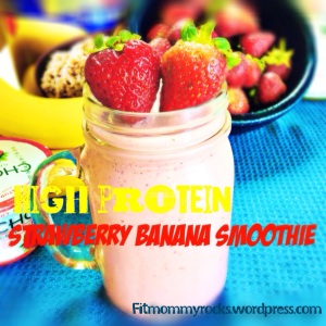 High Protein- Strawberry Banana Smoothie