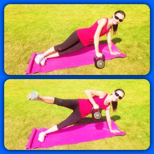 Side Plank with Leg Lift and Side Row