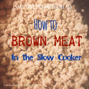 How to Brown Meat in the Slow Cooker