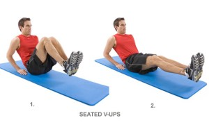 V In- outs (Seated V-ups) Don't use your hands for more of a challenge :) picture from coreandmorehealthandfitness.com