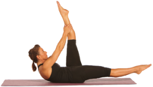 Single Leg Stretch Picture from humankinetics.com