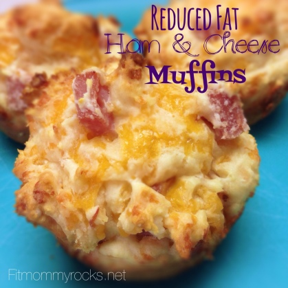 Reduced Fat Ham & Cheese Muffins