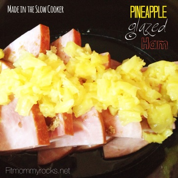 Pineapple Glazed Ham-- Made in the Slow Cooker