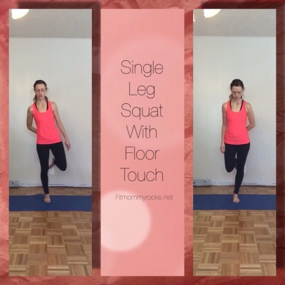 Single Leg Squat with Floor Touch