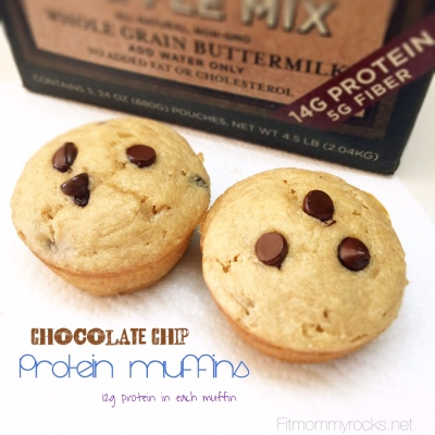 Chocolate Chip Protein Muffins