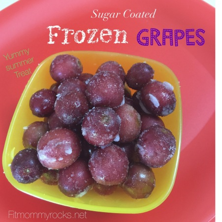 Sugar Coated Frozen Grapes