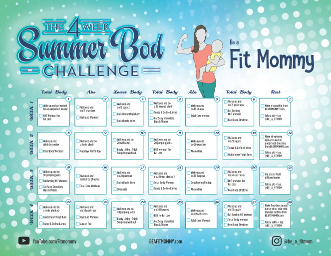 4 week summer bod challenge