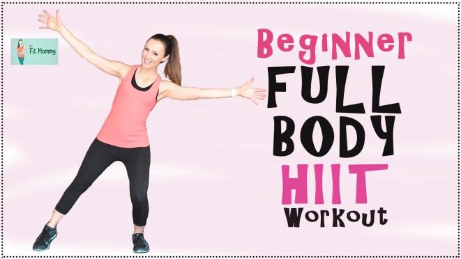 Beginner full Body HIIT Workout Thumbnails